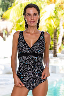 Nip Tuck Binded Cross Front Tankini Top