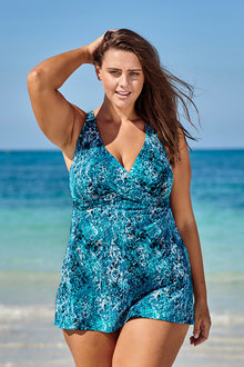 Nip Tuck Curve Cross Front Swimdress