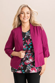 Plus Size - Sara Bengaline Stretch Blazer - 231197