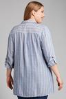 Plus Size - Sara Self Stripe Swing Shirt