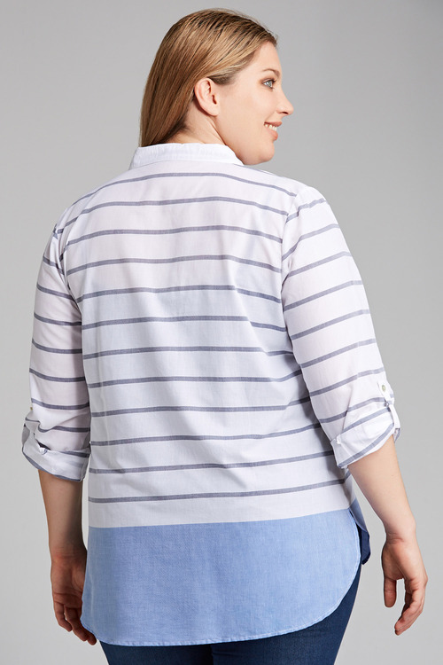 Plus Size - Sara Stripe Shirt