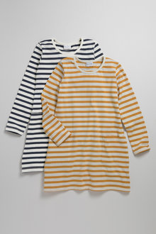 Pumpkin Patch Girls Stripe Pocket Dress Tee