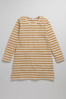 Pumpkin Patch Girls Stripe Pocket Dress Tee
