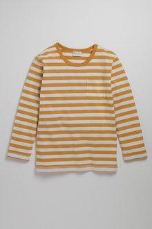 Pumpkin Patch Boys Long Sleeve Stripe Pocket Tee