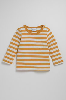 Pumpkin Patch Young Boys Long Sleeve Tee With Pocket - 231204