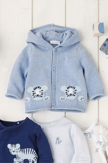 Next Tiger Knit Cardigan (0mths-2yrs)