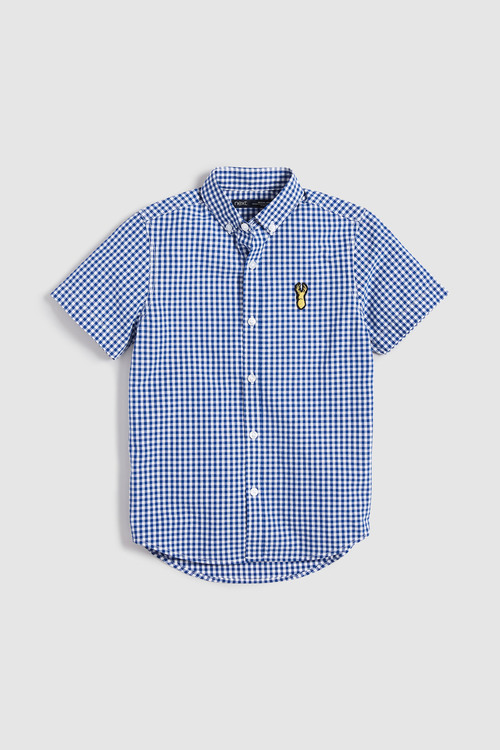 Next Short Sleeve Gingham Shirt (3-16yrs)