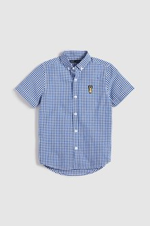 Next Short Sleeve Gingham Shirt (3-16yrs) - 231217