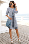 Euro Edit Print Dress