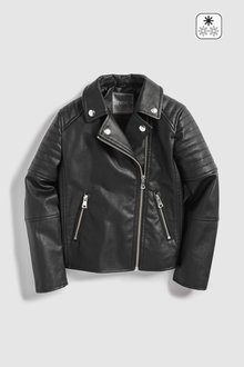 Next PU Biker Jacket (3-16yrs)