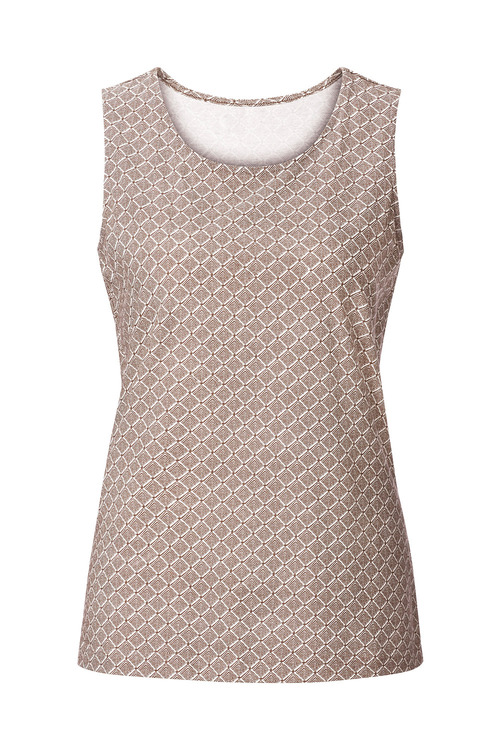 Euro Edit Printed Tank Top