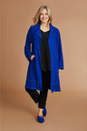 Plus Size - Sara Stitch Detail Long Jacket