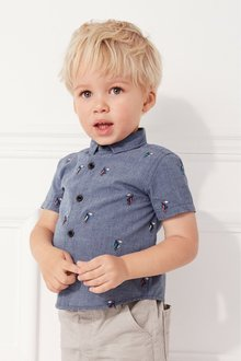 Next Short Sleeve Parrot Shirt (3mths-7yrs)