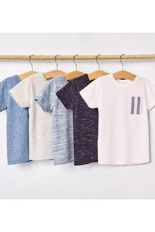 Next Textured T-Shirts Five Pack (3mths-7yrs)