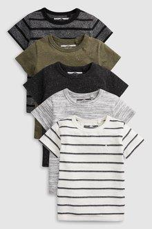Next Textured T-Shirts Five Pack (3mths-7yrs) - 231309