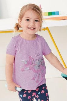 Next Glitter Dinosaur Short Sleeve T-Shirt (3mths-7yrs)