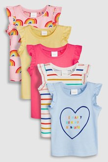Next Vests Five Pack (3mths-7yrs)