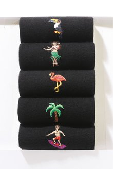 Next Hawaii Embroidered Socks Five Pack