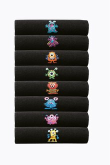 Next Monster Embroidered Socks Eight Pack
