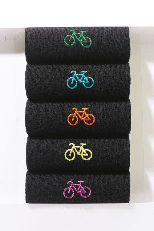 Next Bike Embroidered Socks Five Pack