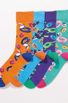 Next Inflatable Pattern Socks Four Pack