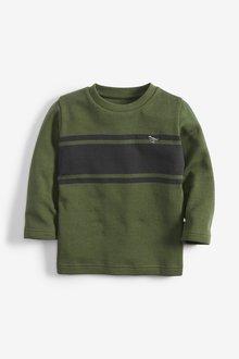Next Long Sleeve Heavier Weight Stripe T-Shirt (3mths-7yrs)