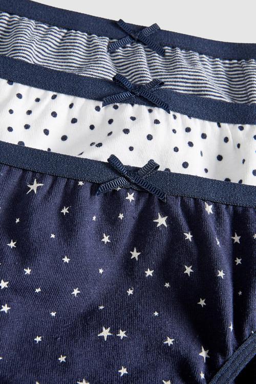 Next Spots And Stars Bikini Briefs Five Pack (5-16yrs)
