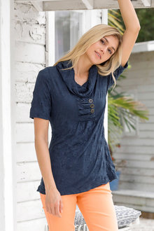 Urban Short Sleeve Crinkle Tunic - 231410