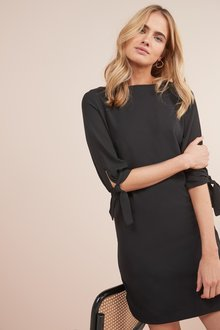 Next Tie Sleeve Shift Dress- Petite