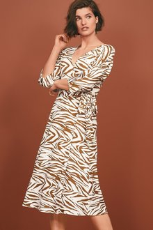 Next Asymmetric Wrap Dress- Petite