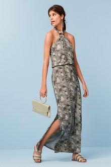 Next Hoop Neckline Maxi Dress- Petite