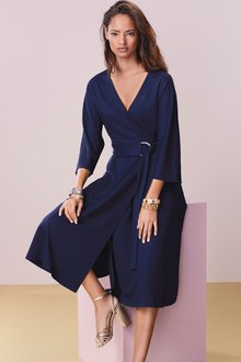 Next Asymmetric Wrap Dress - 231456