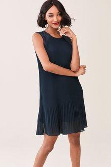 Next Sleeveless Pleat Lace Dress