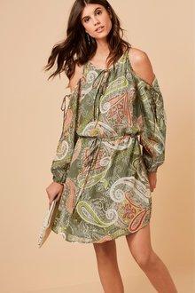 Next Paisley Pattern Cold Shoulder Dress