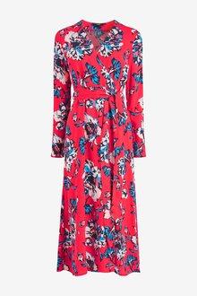 Next Print Wrap Midi Dress
