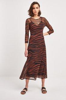 Next Mesh Midi Dress