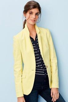 Next Cotton Linen Blend Blazer - 231520
