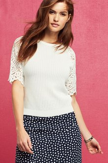 Next Lace Sleeve Top