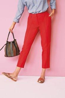 Next Cotton Rich Capri Trousers- Petite