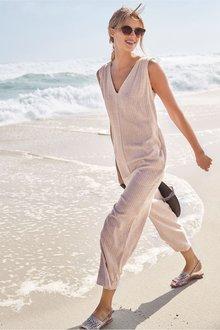Next Linen Blend Jumpsuit - 231594