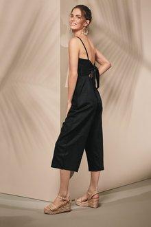 Next Bow Back Linen Blend Jumpsuit - 231701