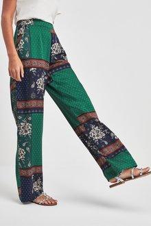 Next Mix Print Wide Leg Trousers
