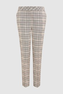 Next Check Pastel Slim Fit Trousers