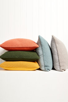 Moss Stitch Knitted Cushion