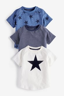 Next Star Short Sleeve T-Shirts Three Pack (3mths-7yrs)