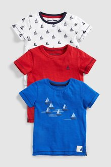 Next Boat T-Shirts Three Pack (3mths-7yrs)