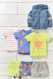 Next Fluro Sun Short Sleeve T-Shirts Three Pack (3mths-7yrs)