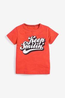 Next Keep Smiling T-Shirt (3mths-7yrs)