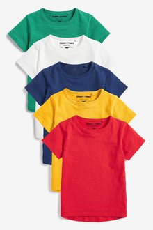 Next Short Sleeve T-Shirts Five Pack (3mths-7yrs) - 231759