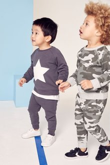 Next Camouflage/Star Crews Two Pack (3mths-7yrs)